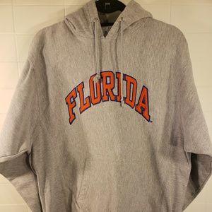 Florida Gray with Orange Logo Pullover Hoodie Sz M